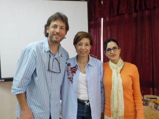 Foundation Service Seminar facilitators François Lecointre, Gilda Urbina, and Mar Portillo in Guadalajara, Mexico, February 2018. Photo courtesy of Gilda Urbina.