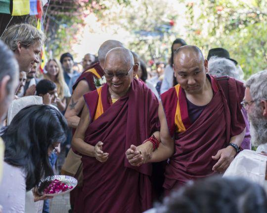 Rinpoche Arriving Tushita Delhi 201803