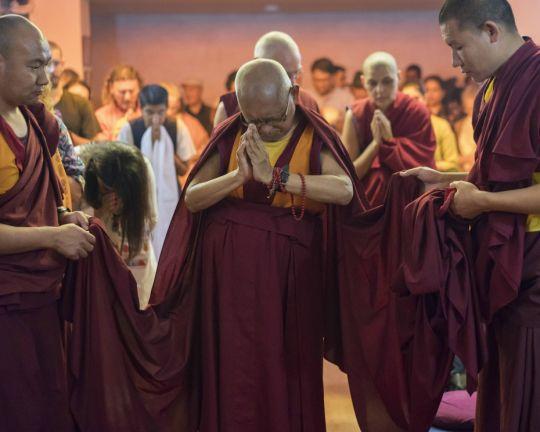 Rinpoche prostration Delhi 201803