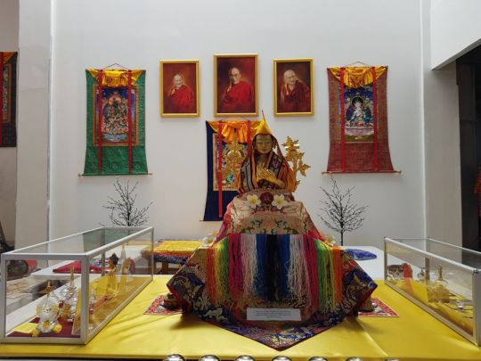 Holy relics set up inside of The Great Stupa, Bendigo, Australia, March 2018. Photo courtesy of Ian Green's Twitter page.