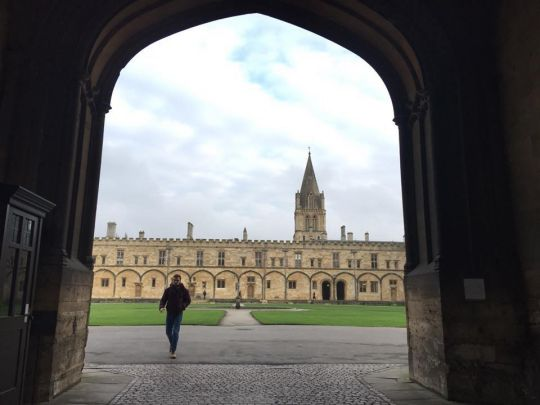 Oxford University campus, Oxford, UK, January 2018. Photo courtesy of Geshe Tenzin Zopa's Facebook page.