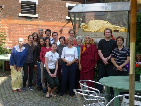 Medicine Buddha Retreat with Geshe Tashi Tsering, UK, 2017. Photo courtesy of Jamyang Buddhist Centre's Facebook page.