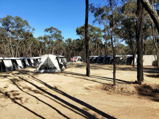 tent city at great stupa