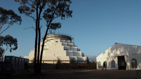 great stupa and dining marquee