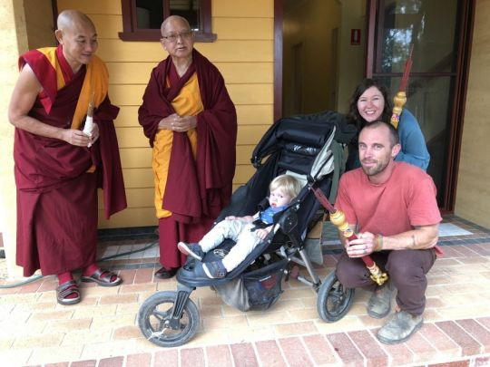 Lama Zopa Rinpoche Geshe Thubten Rapten Amy Hursthouse Lozang Hursthouse