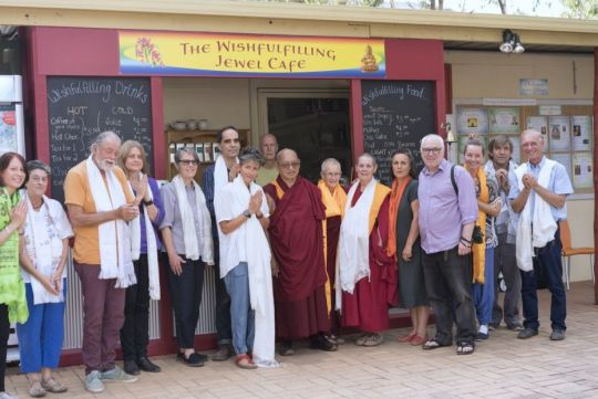 Rinpoche with Atisha Centre staff and volunteers
