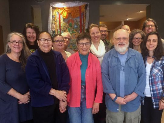 Dr. Jan Willis and students on the last day of the course, Maitripa College, Portland, OR, US, October 2017. Photo courtesy of Maitripa College.