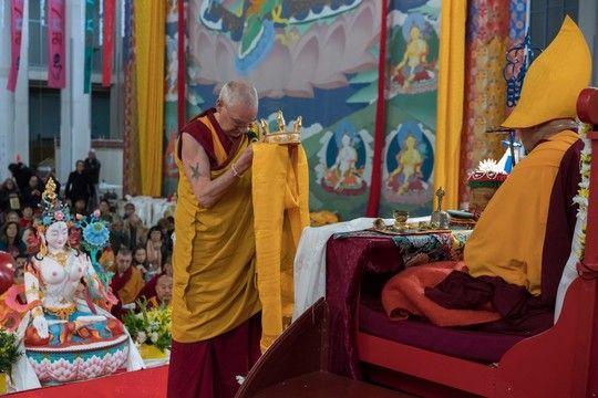Moving Long Life Puja Offered to Lama Zopa Rinpoche, Bendigo, Australia