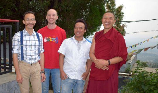 LRZTP8 Alex García, Filip Majkowski, Thubten-la, and Geshe Tenzin Wangdak - June 2018