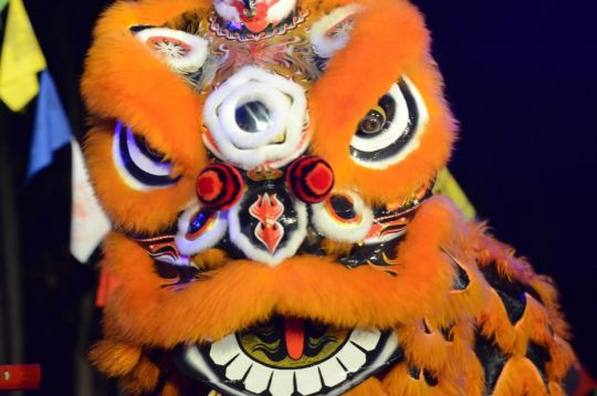 A dragon at ILLUMIN8 2018 organized by the Bendigo Chinese Association