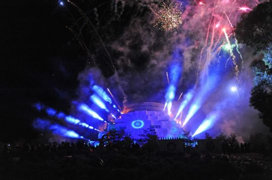 Fireworks and animated light show at ILLUMIN8 2018