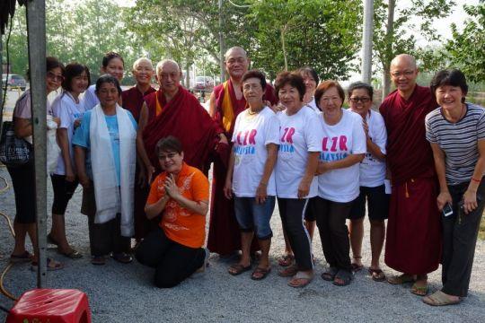 Medicine Buddha retreat volunteers Malaysia April 2016 by Ven Roger Kunsang