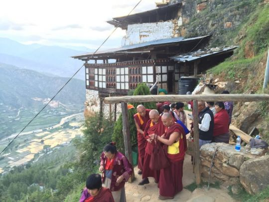 Lama Zopa Rinpoche walking to Holy site of Guru Rinpoches body in Pharo - Drakarpo - June 3 2016 by Ven. Roger Kunsang