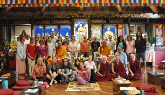 Istituto Lama Tzong Khapa's Basic Program teachers, staff, graduates, and near graduates offered a thanksgiving puja, Pomaia, Italy, June 2018
