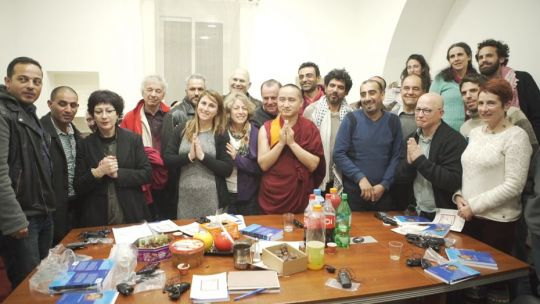 Israel Feb 2017 - Geshe Tenzin Zopa with Combatants for Peace