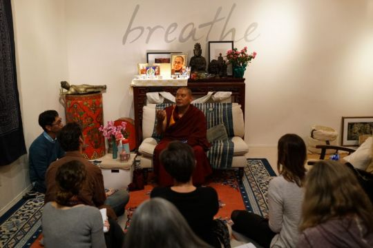 Geshe Ngawang Sangye teaches at Gonpo Ludup Study Group 2018
