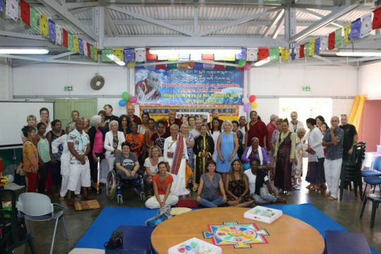 Gyaltsab Je Center Reunion Island celebrates Dalai Lama Birthday 2018