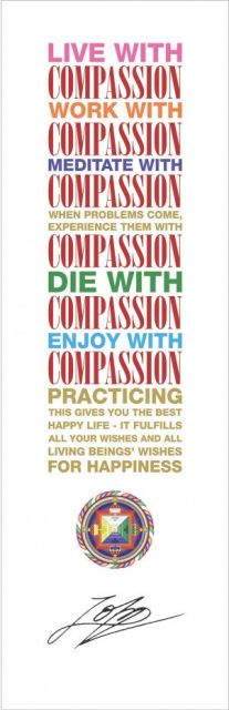 Live with Compassion Poster