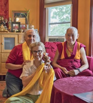 lama-zopa-rinpoche-with-nick-ribush-and-wendy-cook-august-2018-kurukulla-center-massachusetts-by-ven-lobsang-sherab