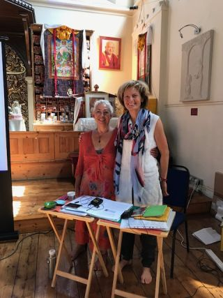 charlotte-elliott-and-annelies-van-der-heijden-foundation-service-seminar-fpmt-london-august-2018-photo-by-retreat-participants