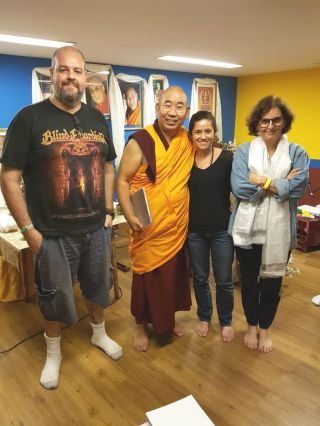 marcio-saraiva-and-nakedia-carvalho-and-ruth-saldanha-with-geshe-lobsang-jamphel-at-centro-shiwa-lha-july-2018-photo-by-centro-shiwa-lha