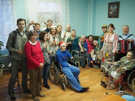 Dmitrovskiy Pogost village nursing home Christmas by Anastasia Alekseevna December 2017