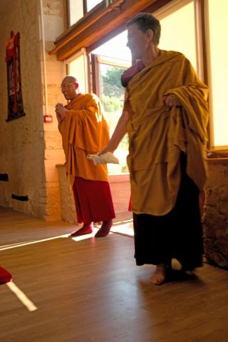 dagri-rinpoche-and ven-elisabeth-at-saint-cosme-en-vairais-retreat-center-france-august-2018-photo-by-charles-ho