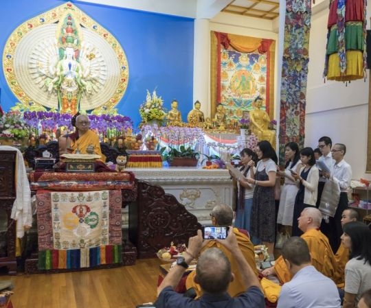 the-amitabha-buddhist-centre-choir-singing-lama-zopa-rinpoches-long-life-prayer-to-him-in-singapore-sept-19-2018-by-ven-lobsang-sherab