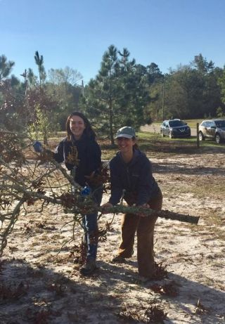 echo-townsend-and-jill-marie-clearing-away-a-large-branch-during-hurricane-florence-relief-efforts-in-north-carolina-on-october-13-2018-photo-courtesy-of-kadampa-center