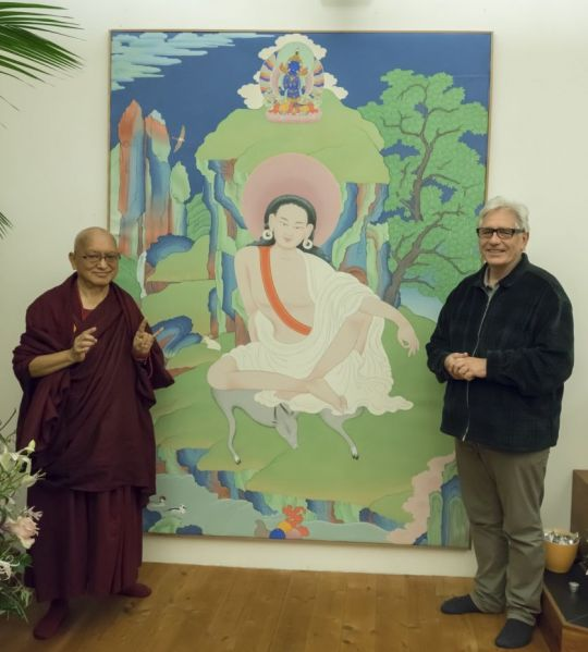 artist-peter-iseli-offered-this-beautiful-milarepa-thankga-to-lama-zopa-rinpoche-bern-switzerland-november-14-2018-by-ven-lobsang-sherab