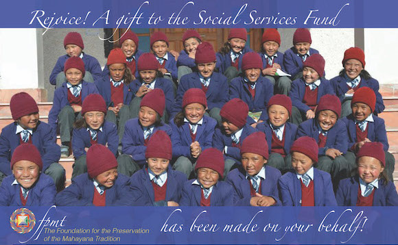 Holiday Gift Giving Option from FPMT