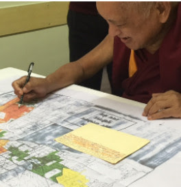 lama-zopa-rinpoche-choosing-a-location-for-the-statue