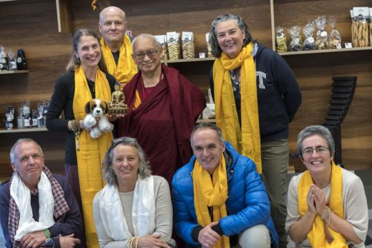 lama-zopa-rinpoche-and-the-gendun-drupa-center-director-spiritual-program-coordinator-and-board-after-lunch-in-martigny-switzerland-november-2018-photo-by-ven-lobsang-sherab
