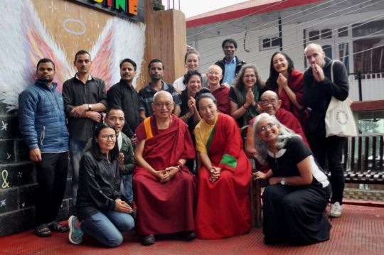 lama-zopa-rinpoche-and-khadro-la-with-tushita-dharamsala-staff-september-2018
