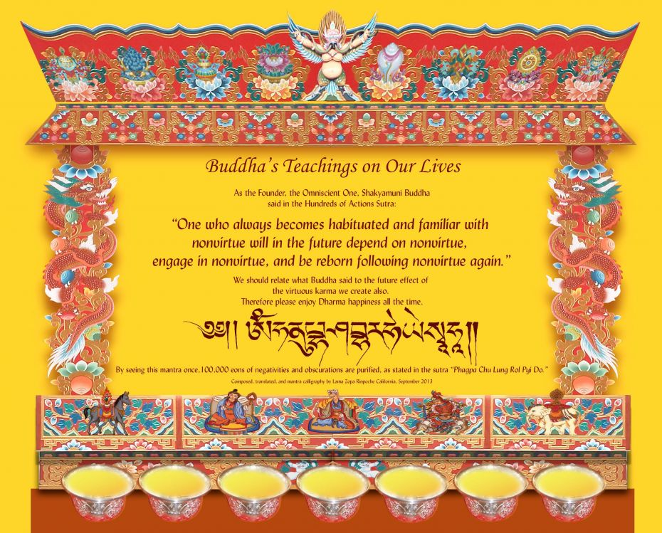 Take a Look! Buddha's Teachings on Our Lives Card