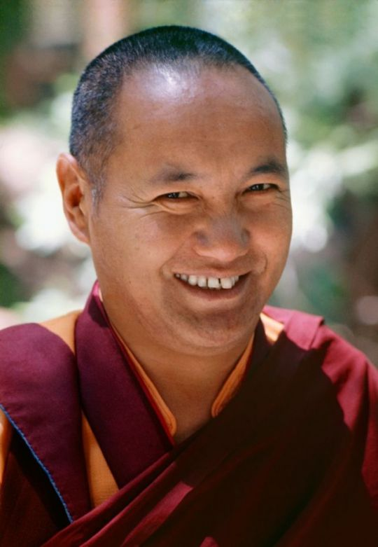 Lama Yeshe, Lake Arrowhead, California, United States, 1975. Photo by Carol Royce-Wilder, courtesy of Lama Yeshe Wisdom Archive.