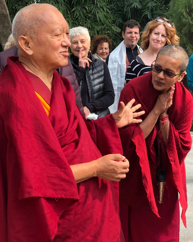 Lama Zopa Rinpoche Visits Root Institute in Bodhgaya, India