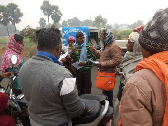 binod-patra-and-ganesh-sharma-raising-awareness-in-village-jan-2019-maitri