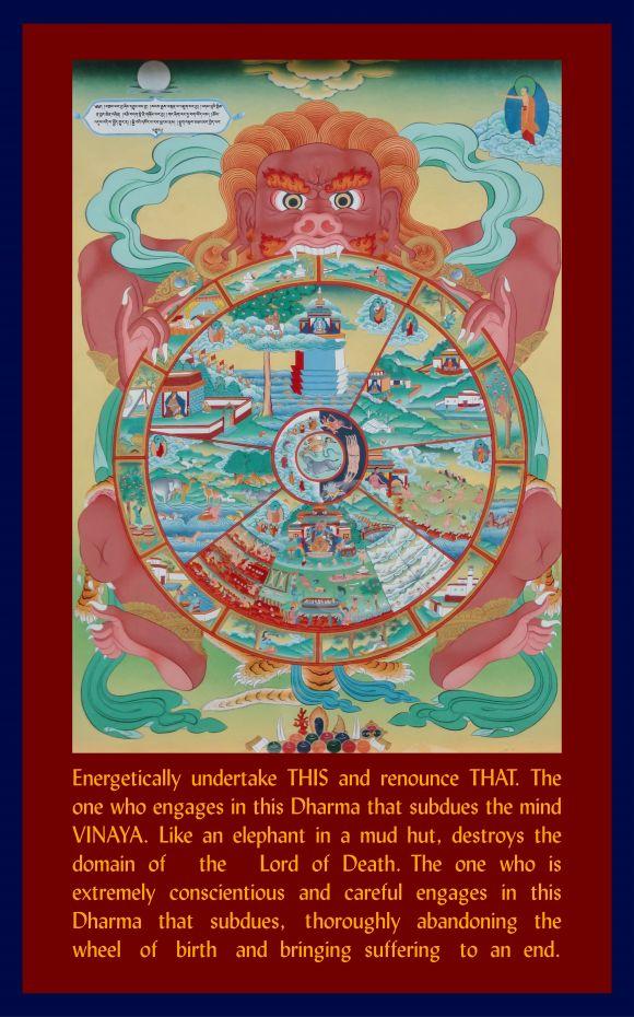 New Downloadable Images! 'Wheel of Life' and 'Guru Shakyamuni Buddha with the Seventeen Pandits'