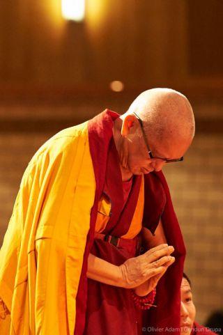 Lama Zopa Rinpoche, Saviese, Switzerland, November 2018. Photo by Olivier Adam.