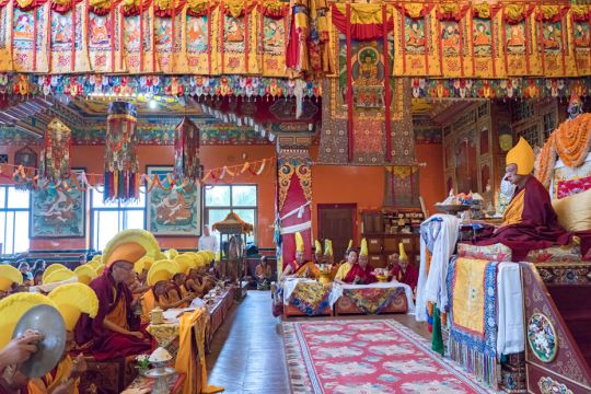 Long-life-puja-for-Lama-Zopa-Rinpoche-Kopan-201904-1
