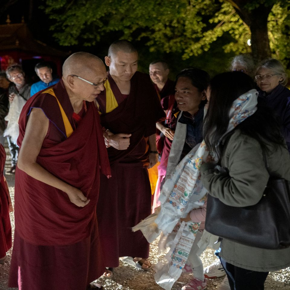 Lama Zopa Rinpoche Arriving at IVY 201905