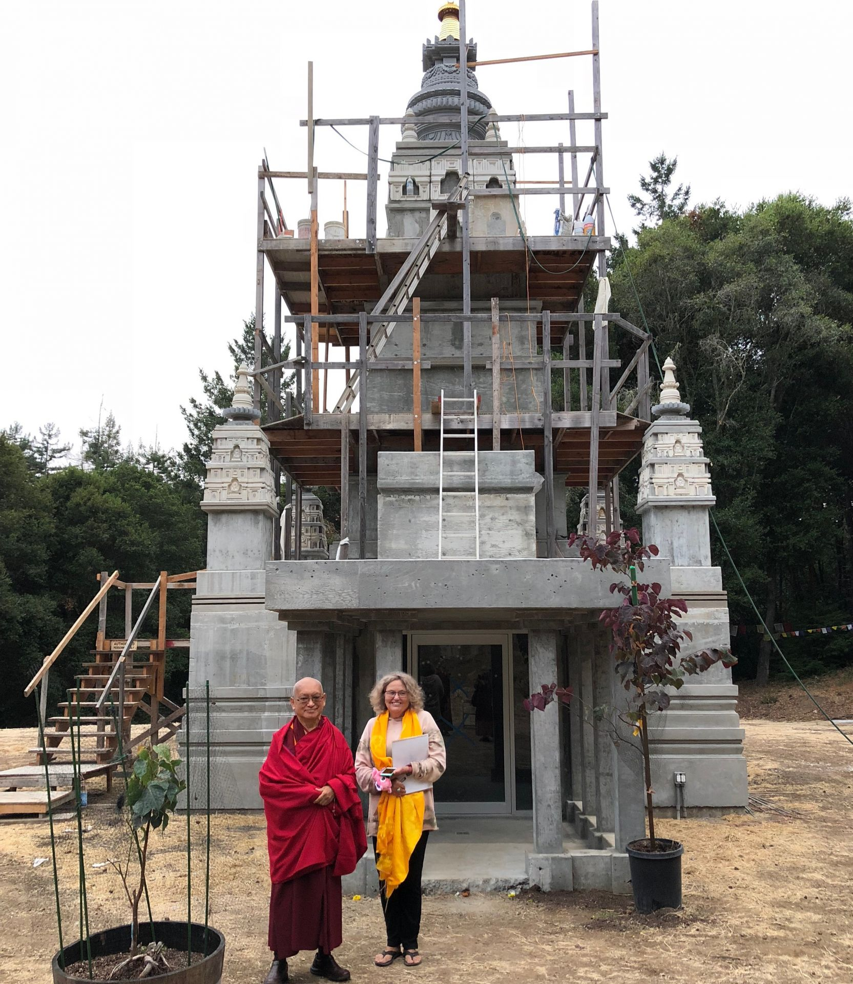 Progress Continues on Land of Medicine Buddha's Mahabodhi Stupa Project in California