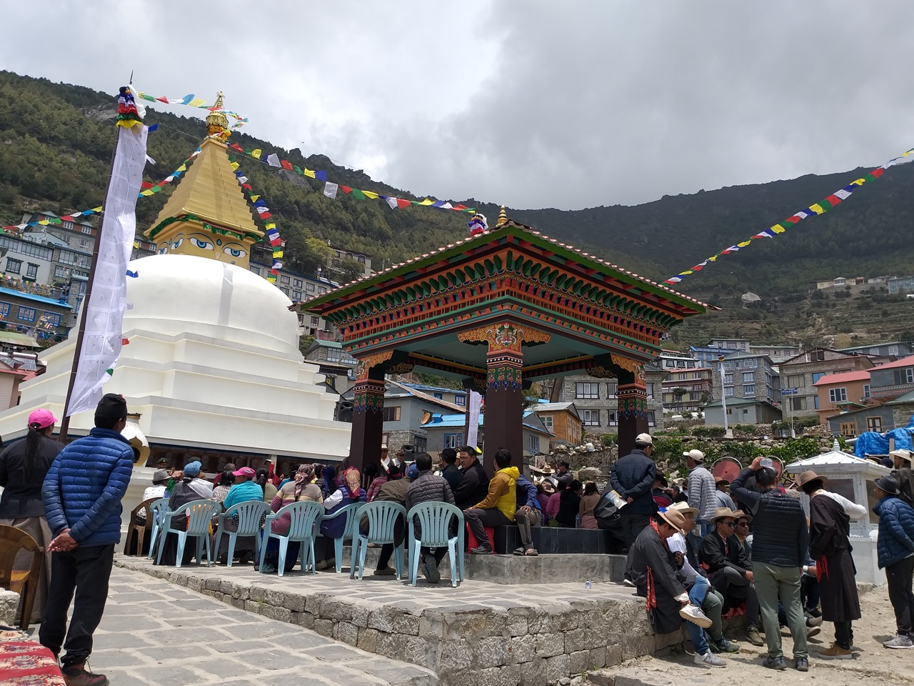 Namche Stupa and Mani Park Completed in Namche Bazaar, Nepal
