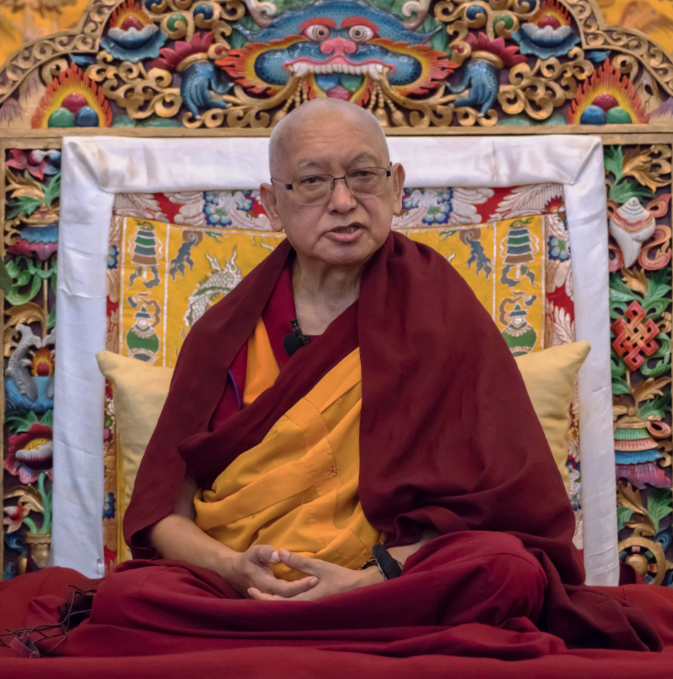 Lama Zopa Rinpoche teaching during the Kopan course