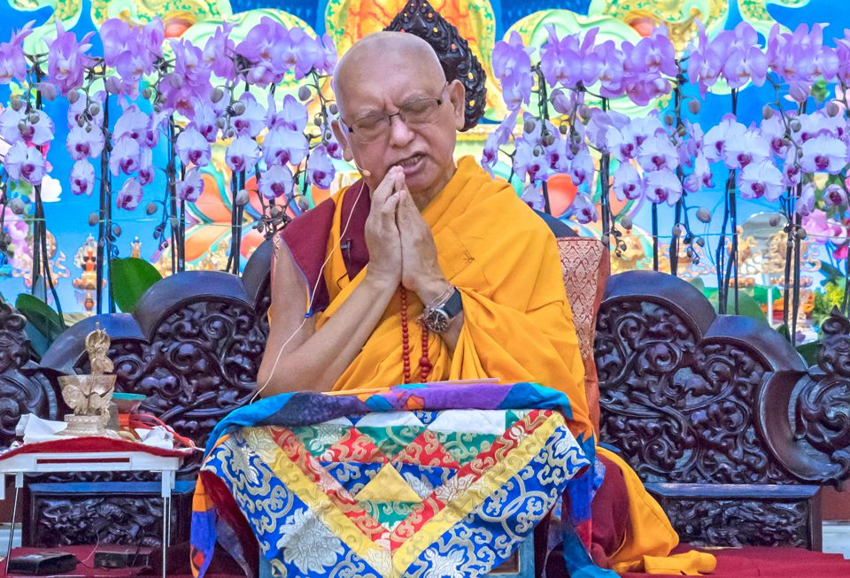 Lama Zopa Rinpoche at Amitabha Buddhist Centre Singapore 2018