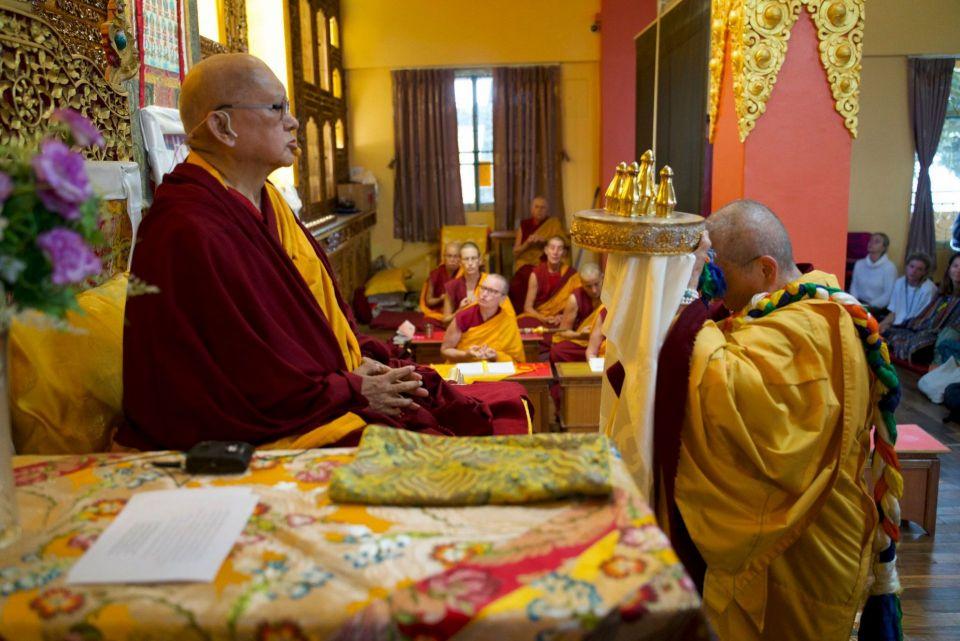 Lama Zopa Rinpoche mandala offering Kopan 2019
