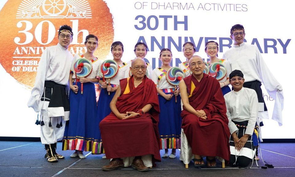 Lama Zopa Rinpoche Joined Amitabha Buddhist Centre to Celebrate Thirty Years