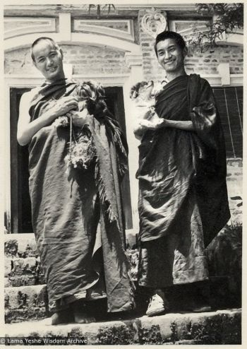 Lama and Rinpoche, early Kopan