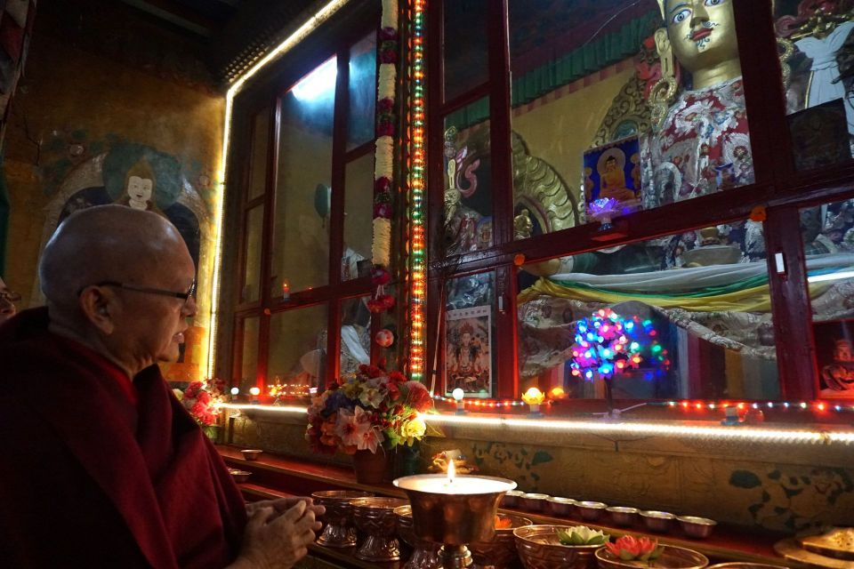 Continual Butter Lamps Sponsored at Thubten Chöling and Guru Rinpoche Statue in Chailsa, Nepal